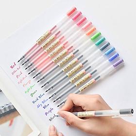 12pcs/set Gel Pen 0.5mm Pen Lead Colored Gel Ink Pens Comfort Grip for Drawing Painting Writing Coloring Books Art