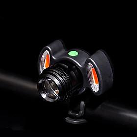 Đèn Pha, Đèn Pin Xe Đạp T6 Siêu Sáng Gắn Ghi Đông Sạc Điện Micro USB Với 2 Bóng Phụ Màu Đỏ Cảnh Báo An Toàn Ban Đêm Chống Nước Mai Lee
