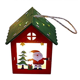 Christmas color lighted cabin Christmas small house decoration tree decoration pendant children Christmas gift light