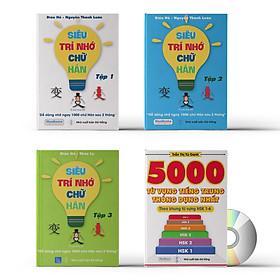 Combo 4 sách: Siêu trí nhớ chữ Hán tập 01 + tập 02 + tập 03 + 5000 từ vựng tiếng Trung thông dụng nhất và DVD tài liệu nghe