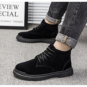 Giày nam, giày thể thao nam cổ cao, giày boots nam mẫu mới cao cấp tạo phong cách cá tính cho riêng bạn NSP374