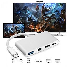 Cáp Chuyển Đổi USB Type C Sang HDMI, Hub USB Và Cổng Lan