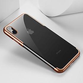 Hình đại diện sản phẩm Ốp lưng viền màu mạ crom dành cho iPhone XS MAX Hiệu Baseus Glillter (mỏng 0.6mm, chống va đập, gờ bảo vệ Camera, Mạ Crom sang trọng ) - Hàng chính hãng
