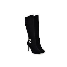 Giày Boot nữ nhung cổ cao B087