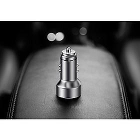 Tẩu cắm sạc điện thoại trên xe hơi WEL TRIP A98 ( 2 cổng sạc USB 1.2A và 2.4A, màn hình LCD, chịu nhiệt và tản nhiệt tốt)- (Tặng Gương cầu lồi mini gắn gương chiếu hậu ô tô)