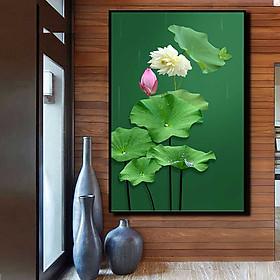 Tranh đơn canvas treo tường Decor Họa tiết búp sen – DC171