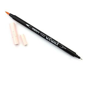 Bút lông hai đầu màu nước Marvy LePlume II 1122 - Brush/ Extra fine tip - Pale Pink (47)