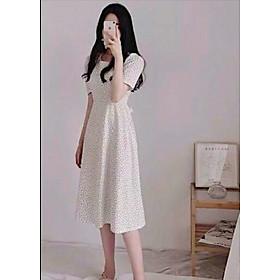 Đầm bi trắng cột nơ V2