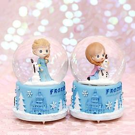 Hộp nhạc quả cầu tuyết Elsa