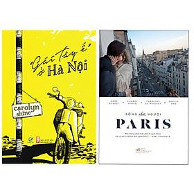 """Combo 2 cuốn sách thú vị: """"Gái Tây Ế"""" Ở Hà Nội + Sống Như Người Paris ( Tặng kèm Bookmark Happy Life)"""
