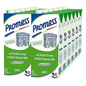 Thùng 12 Hộp Sữa Tươi Không Béo Promess (1L /Hộp)