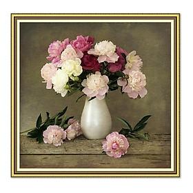 Decal dán tường khung tranh lọ hoa hoa đẹp LunaCV-0110K