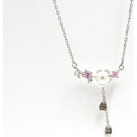 Dây chuyền bạc nữ xinh,  Vòng cổ bạc nữ 925 chùm hoa Lan mùa xuân khoe sắc