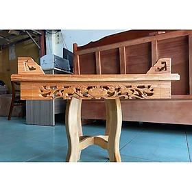 Bàn thờ treo tường Hoa Sen 60cm và ke gỗ TTX60ST