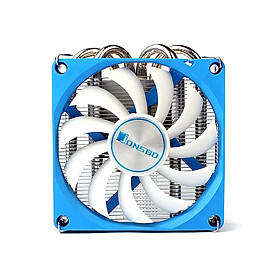 Jonsbo HP-400 CPU Cooling Fan Ultra-Thin Mute CPU Cooler 4 Heat Pipes Radiator for HTPC ITX Case All-In-One Computer