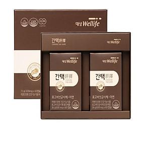 Combo viên uống bổ gan CHOOSE THE LIVER Daesang Wellife Hàn Quốc set 2 hộp 60 viên /hộp