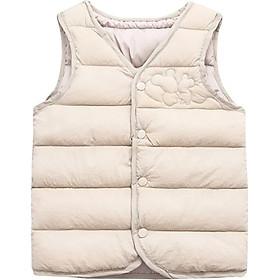 Kids Vest Children Solid Print Jacket Winter Baby Boys Girls Warm Outerwear Coats Children Outfits