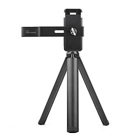 Handheld Mobile Phone Clip Holder Extended Mounting Bracket with Foldable Tripod Stand Kit for DJI OSMO Pocket Handheld