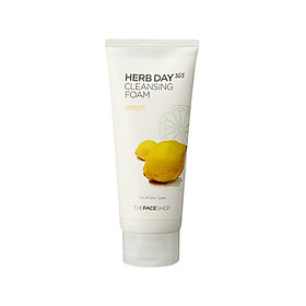 Sữa Rửa Mặt Làm Sáng Da The Face Shop Daily Herbal Lemon Foam Cleanser 170ml