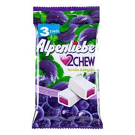 Kẹo Mềm Alpenliebe 2Chew Hương Nho (Gói 3 Thỏi)