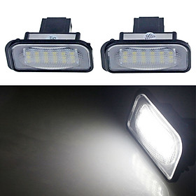 2x 18 LED License Plate Light Direct Fit For Mercedes Benz W211 W203 5D W219 R171