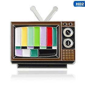 Pin cài áo ti vi & kênh truyền hình thường gặp về đêm thời 8X 9X - GC125