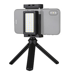 Mobile Phone Live Set Portable Pocket Self-Timer Fill Light & Phone Clamp Bracket Mount & Desktop Tripod