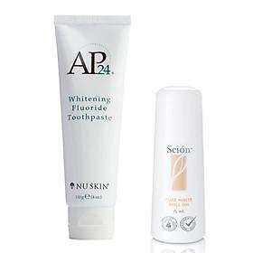 Combo Lăn Khử Mùi Scion Nuskin + Kem Đánh Răng Ap24 Whitening Fluoride Toothpaste