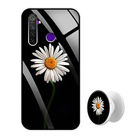 Ốp Lưng Kính Cường Lực cho điện thoại Realme 5 Pro - 0386 8033 CUCHOAMI08 - Tặng Giá Đỡ Điện Thoại Đa Năng Cùng Mẫu Hình - Hàng Chính Hãng