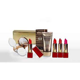 Combo trang điểm Daily Beauty gồm Phấn nước CC Cushion + 4 thỏi son lì Re:Excell Lipstick + kem nền BB cream R&B Việt Nam nhập khẩu chính ngạch Hàn Quốc-0