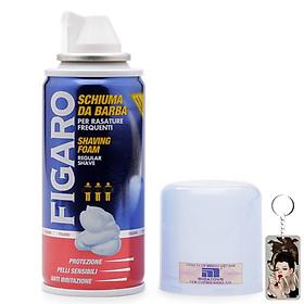 Bọt cạo râu Figaro Shaving Foam 100ml tặng kèm móc khóa