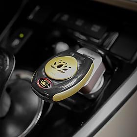 Tẩu xông trầm trên xe ô tô kèm sạc USB và lọ đựng trầm