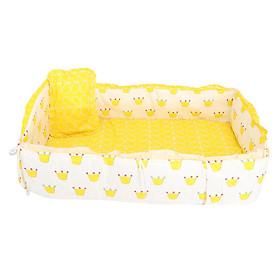 Crib Bedding Set Comforter Bed Surround Mattress 100x58cm Crown