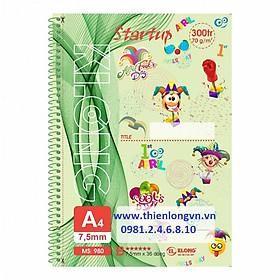 Sổ lò xo đơn Start Up A4 - 300 trang; Klong 980 xanh lá