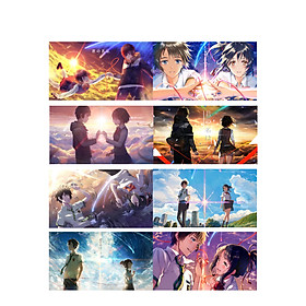 Poster 8 tấm A4 Kimi No Na Wa Your Name anime tranh treo album ảnh in hình đẹp (MẪU GIAO NGẪU NHIÊN)
