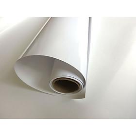 decal dán tường màu trắng bóng có sẵn keo
