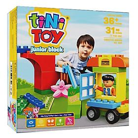 Đồ Chơi Lắp Ráp Junior Block Creative Bricks tiNiToy 204 (Cầu Trượt)