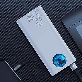 Pin sạc dự phòng 30.000 mAh hiệu Baseus Ambligh hỗ trợ sạc nhanh cho Smartphone / Tablet / Laptop / Macbook (Màn hình LED, công suất 33W , PD Fast charge, Quick charge 3.0, 5 OutPut, chip sạc thông minh) - Hàng chính hãng