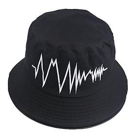 Nón bucket tai bèo nam nữ thêu hình nhịp tim nổi loại hot trend độc đáo - Hạnh Dương