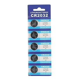 Bộ Pin Nút Áo CR2032 Cho Remote Điều Khiển Card IC (5 Viên) (220mAh) (3V)