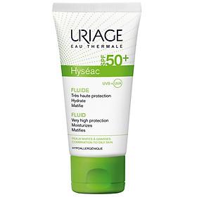 Kem dưỡng chống nắng giảm nhờn cho da mụn, da dầu Uriage Hyséac Fluide SPF 50+ 50ml