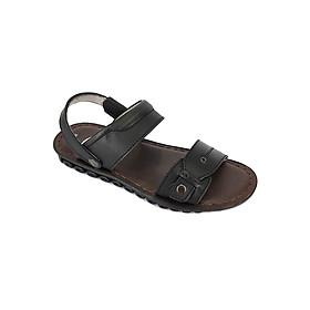 Giày Sandal Quai Ngang Da Bò Nam Everest A309 (Đen)