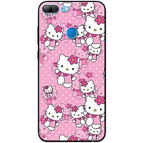 Ốp lưng dành cho  Honor 9 Lite  mẫu Mèo nền hồng
