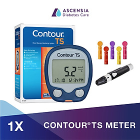 Máy đo đường huyết Contour TS - mg/dL (Gồm 1 máy đo+ 05 kim lấy máu+ 01 Bút lấy máu)