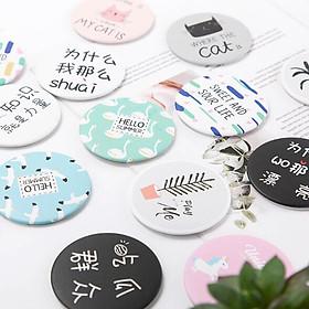 Bông Tẩy Trang Miniso Natural Cotton Pads 1000 Miếng tặng gương trang điểm mini dễ thương tiện dụng-3