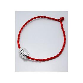 Hình đại diện sản phẩm Vòng tay phong thủy mix mặt phật trắng CD7T - U vòng chỉ đỏ may mắn mặt phật trắng - vòng phong thủy cho nam và nữ