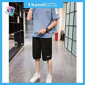 Đồ Bộ Thể Thao Nam thương hiệu Chandi, Đồ Bộ Mặc Nhà chất liệu thun cao cấp mát mẻ, thấm hút mồ hôi tốt MS907