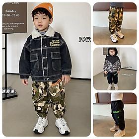 QK11Size90-130 (9-25kg)Quần Kaki bé trai, vải cực đẹp, ngầuThời trang trẻ Em hàng quảng châu