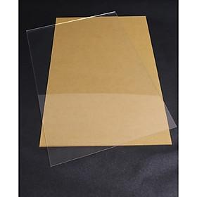 Bộ 5 tấm nhựa mica trong suốt 40x40cm