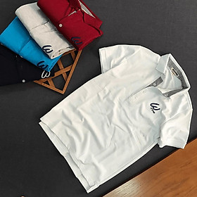 Áo Thun Nam cổ bẻ logo thêu chữ Its for thun cá sấu 4 chiều co giãn cao cấp-YM035